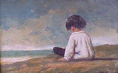 Застенчивые дети. Одинокий ребенок на берегу