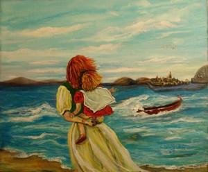 Стихи родителям о воспитании детей. Мама, ребенок, уплывающая лодка.