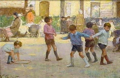Чем занять маленьких детей. Игра во дворе.