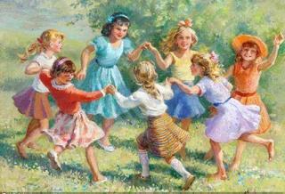 Как и чем занять ребенка. Девочки в хороводе.