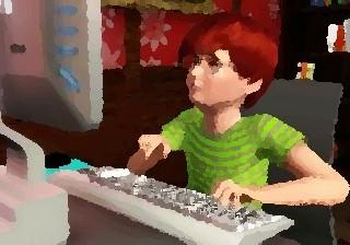 Компьютер в жизни детей. Ребенок за компьютером.