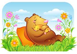 Самая трудная работа в мире. Медведица с медвежонком.